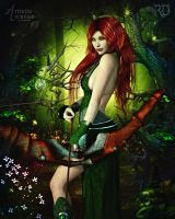 Huntress of the Mossy Wood by RavenMoonDesigns
