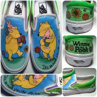 Winnie the Pooh Shoes by hcram5
