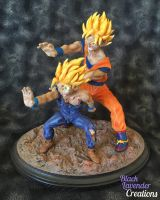 DBZ Father - Son Kamehameha by BlackLavenderSoul