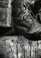 Old military shoes by JuliaHolmquist