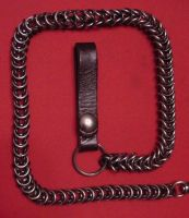 Two tone wallet chain by patchwork-steve
