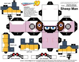 SheepMan Cubeecraft Papercraft by SpeedBrkr