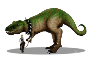Walking a T-Rex by Pestdoktor
