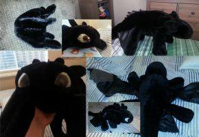 Toothless Plush #1 by Sketching-Sketches