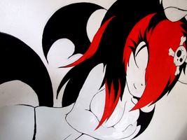 Lucy Wall Mural alt view 2 by SCIFIJACKRABBIT