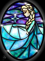 Stained Glass Elsa by CallieClara