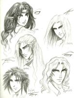 Male charactes sketches by SyriusAntares