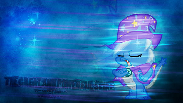 Great and Powerful Spike 1366x768 by TwelvePonies