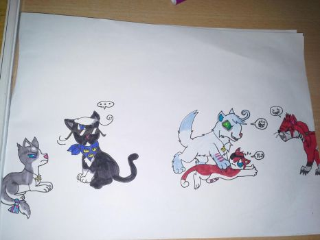 my oc's as cats by cargirl9