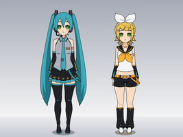 Miku and Rin Reprogramed by HypnolordX