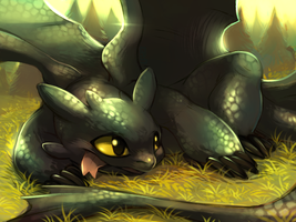 Toothless by Aishishi