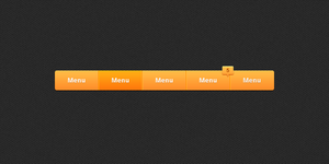 Sleek Navigation Bar PSD by suraj78