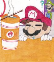 Mario and his ramen by Ike910
