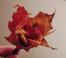 fallen leaves turned into roses by prettyflour