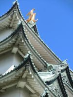 Nagoya Castle Roof by Arcturion
