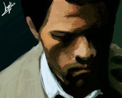 Castiel Painting by superfizz