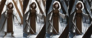 Hunter of the North: process by CaraKhan