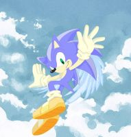 Sonic Myths: Angel Sonic by darkdraik