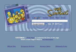 The Simpsons Startpage by AwesomeStart