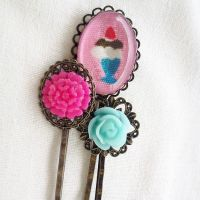Ice Cream Sundae Hair Pin Set by AndyGlamasaurus