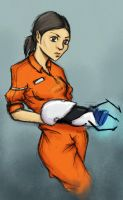 fanart project: chell by K3LCH4N