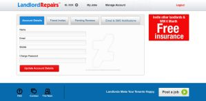 Landlordrepairs Settings Account by syntaxsolutions