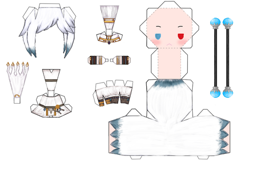 Maplestory Luminous Papercraft by Elizabethsailor7