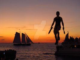 Key West Sunset Buskers by frankcanfly