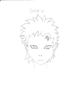 Gaara - My First Character Dra by LosingSarah