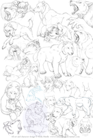 Giant persona sketchdump by CunningFox