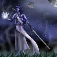 Character Design Contest: The Silver Mist Mage by Xovinx