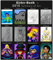 Summary of Art - 2016 by Kirby-Dash