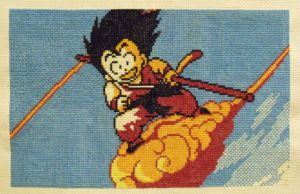 Goku Cross Stitch by trufflefunk