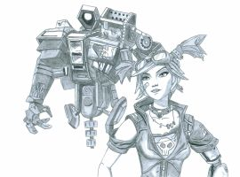 Borderlands 2 - Gaige The Mechromancer by Kaipyro67