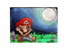 Super mario jumps high by RedEyedJed1