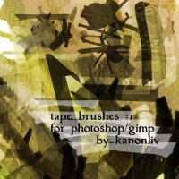 tape brushes by kanonliv