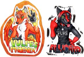 Vulpes and Alucard Badges by EmeraldSILVER