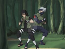 Kakashi With Kitarrah - My OC by wild4matt