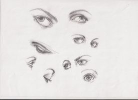 ways to draw eyes 3 by ultraseven81