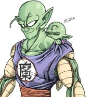 King Piccolo and Piccolo Jr - Piggyback by TheBombDiggity666