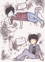 Marshall Lee and Rodrick by camo-chan