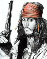 Completed Captain Jack Sparrow by Skeksy