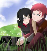 Commission: Gaara and Tomoko by annria2002