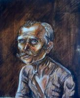 Otto Dix's father by Silphes