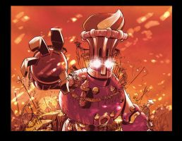 Wakfu TCG card Giant Robot by migouze