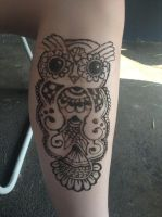Henna OWL by BlackWaterPanther