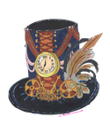 Steampunk Time Keeper Hat by josie1130