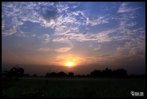 SUNRISE FRONT OF MY HOME by p32n