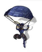 sly and his paraglide in sly 4 by FCC93