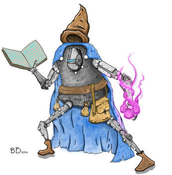 Mech Wizard: Finished Character by MasterBellick